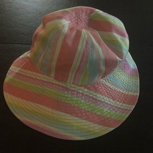 Coach multi color striped Bucket Hat